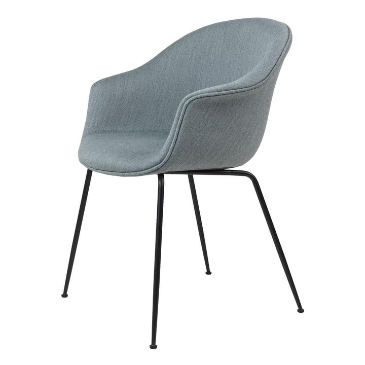 Bat Dining Chair upholstered (metal), black matt / Mood, Gabriel (04105) by Gubi