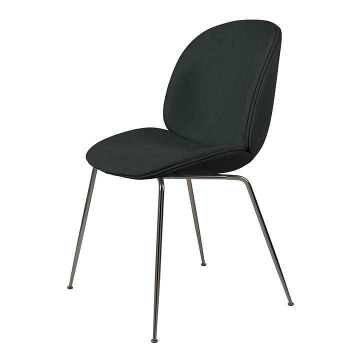 Beetle Dining Chair (upholstered), black chrome / Melville, Dedar by Gubi