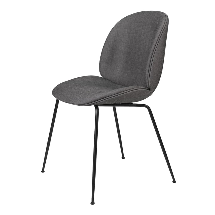 Beetle Dining Chair (upholstered), black matt / Remix, Kvadrat (152) by Gubi