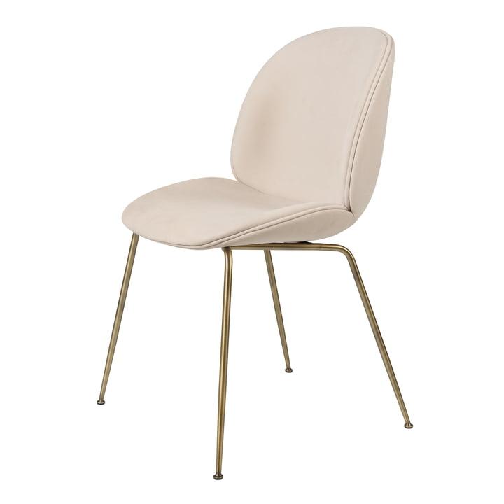 Beetle Dining Chair (upholstered), antique brass / Melville, Dedar of Gubi