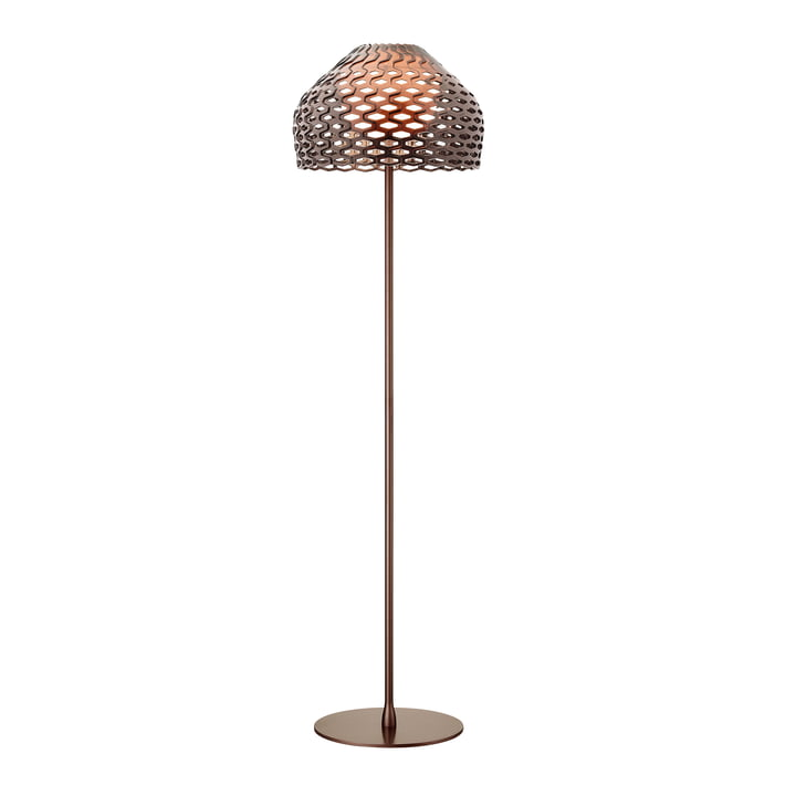 The Tatou floor lamp from Flos in ochre - grey