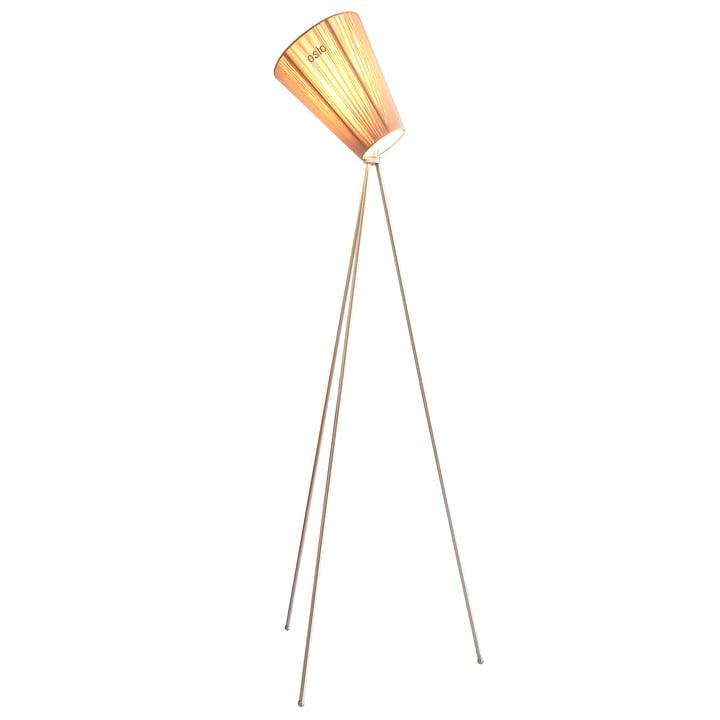 The Oslo Wood floor lamp from Northern in beige / metallic