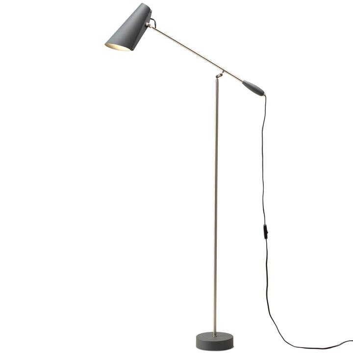 The Birdy Floor lamp from Northern in grey / metallic
