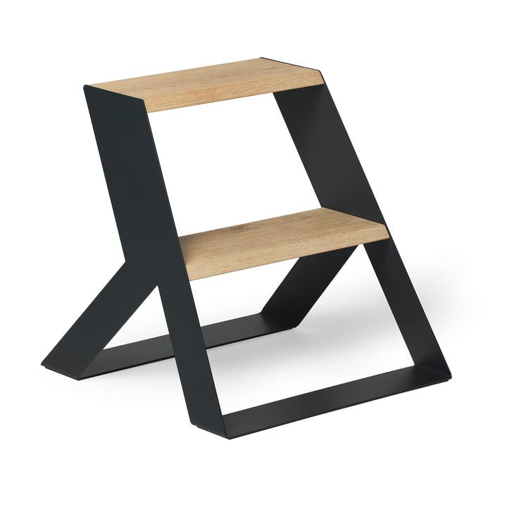 Split Step Step ladder from Frederik Roijé in oak / dark grey