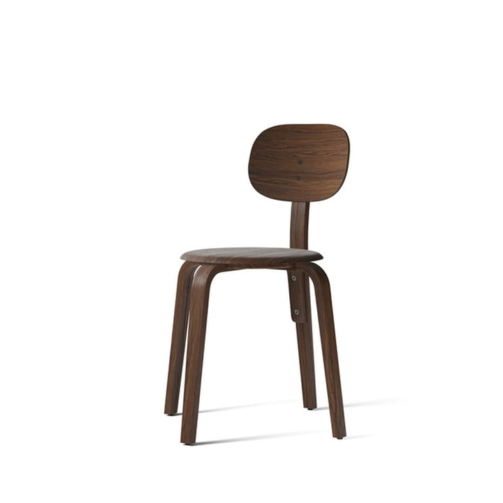Afteroom Dining Chair Plywood, oak dark stained by Menu