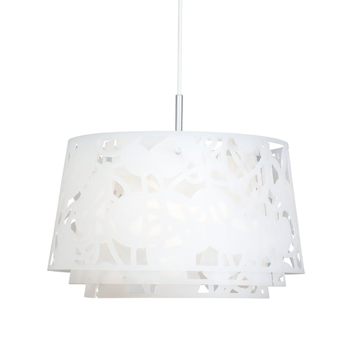 Collage 600 pendant lamp by Louis Poulsen in white matt