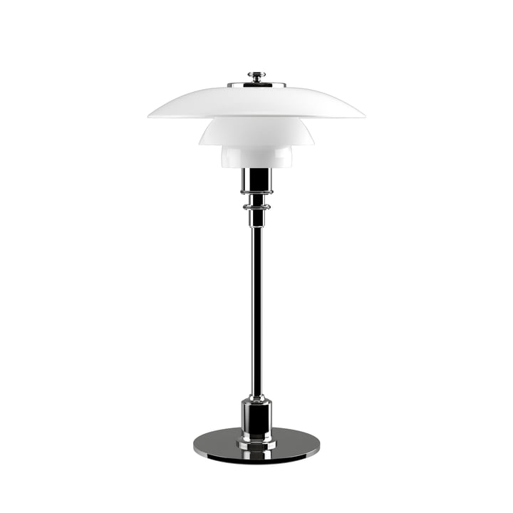 PH 2/1 table lamp by Louis Poulsen in polished chrome
