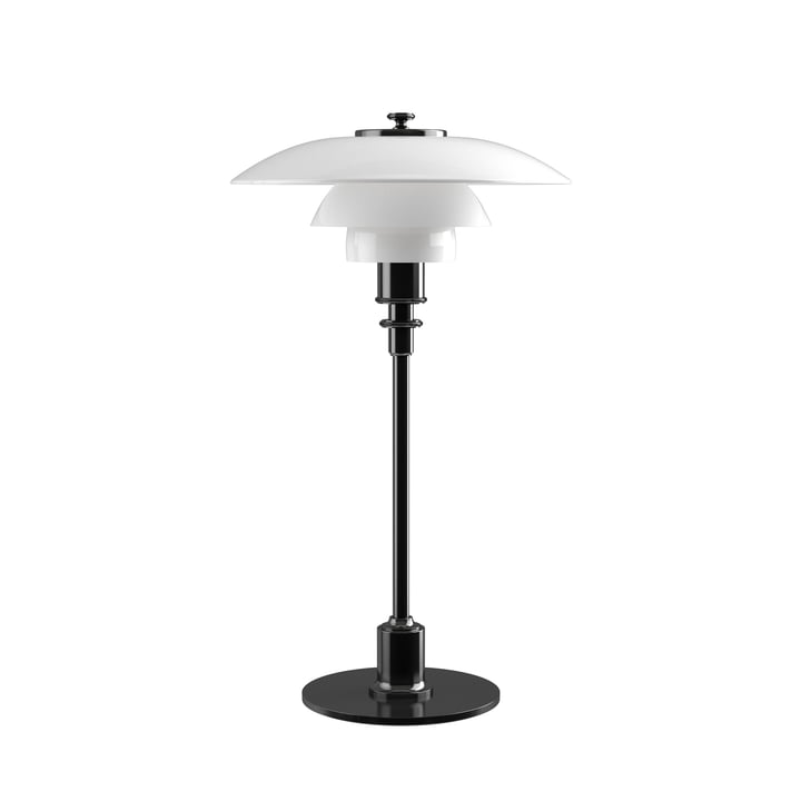 PH 2/1 table lamp by Louis Poulsen in black metallized
