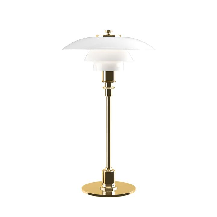 PH 2/1 table lamp by Louis Poulsen in brass