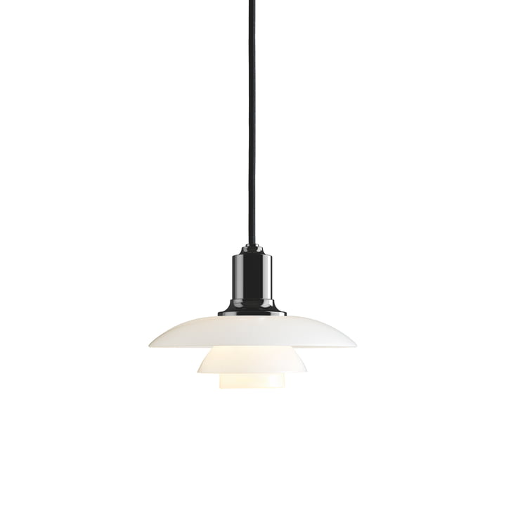 PH 2/1 pendant lamp by Louis Poulsen in black metallized