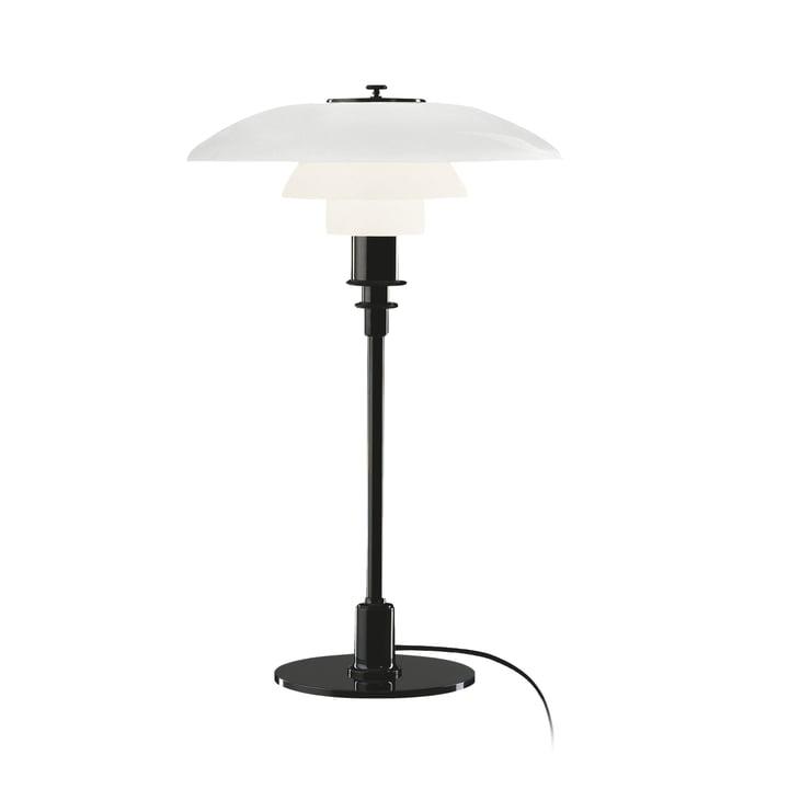 PH 3/2 table lamp by Louis Poulsen in black chrome