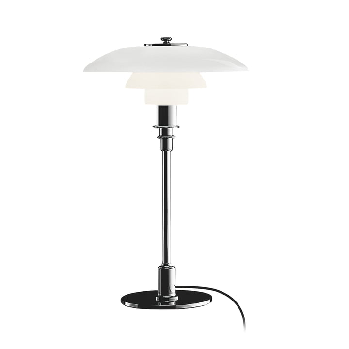 PH 3/2 table lamp by Louis Poulsen in polished chrome