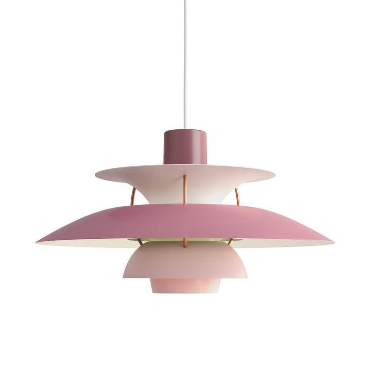 The Louis Poulsen - PH 5 pendant lamp in hues of rose