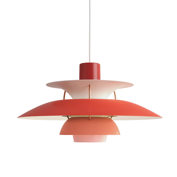 The Louis Poulsen - PH 5 pendant lamp in hues of red