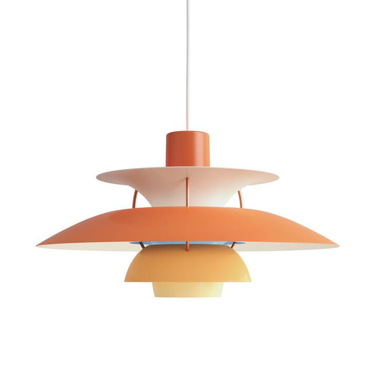 The Louis Poulsen - PH 5 pendant lamp in hues of orange