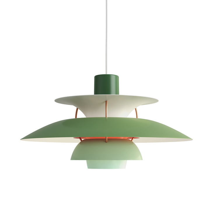 The Louis Poulsen - PH 5 pendant lamp in hues of green