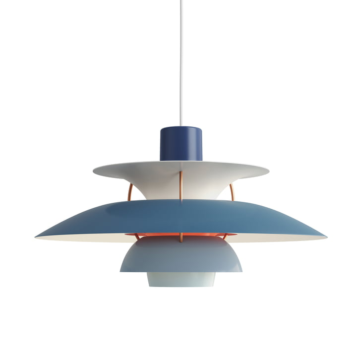The Louis Poulsen - PH 5 pendant lamp in hues of blue