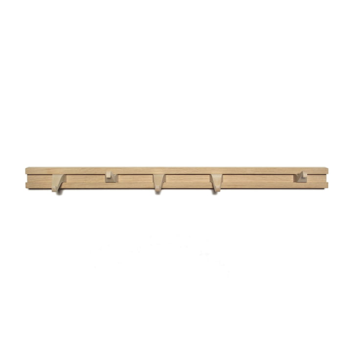 The Anderl coat rack from side by side in oak / maple, L 60 cm