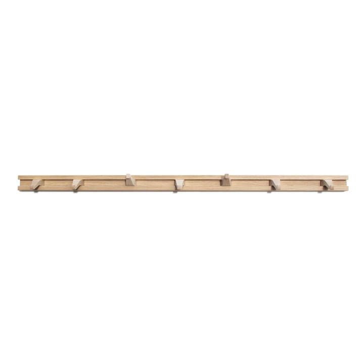 The Anderl coat rack from side by side in oak / maple, L 85 cm