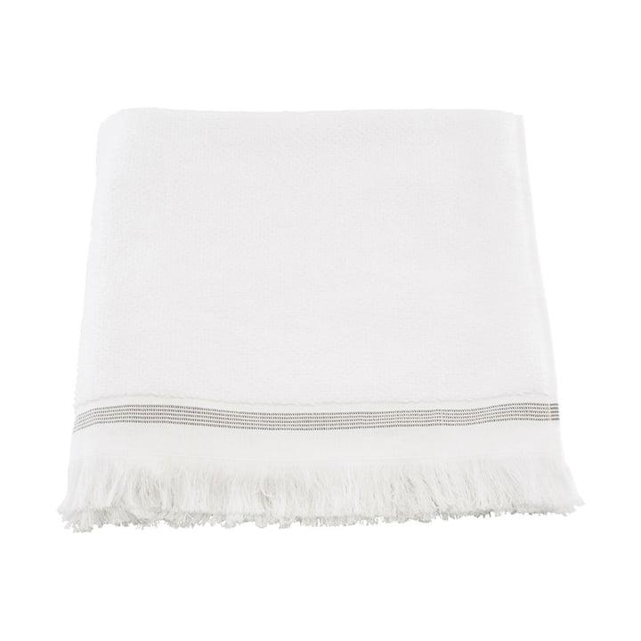 The towel striped from Meraki in white / grey, 70 x 140 cm