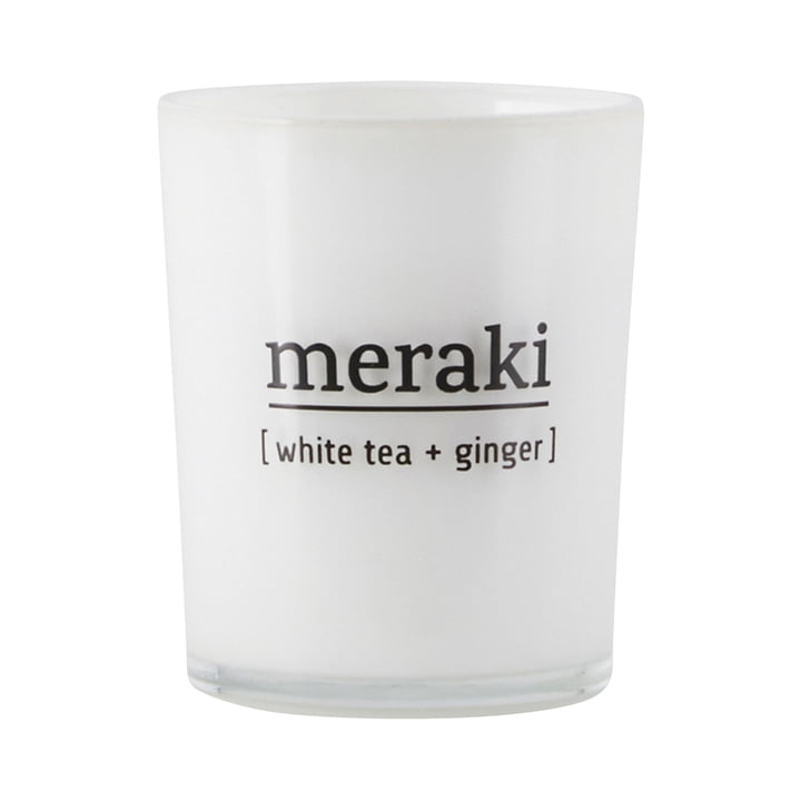 The scented candle White Tea & Ginger from Meraki , Ø 5,5 cm