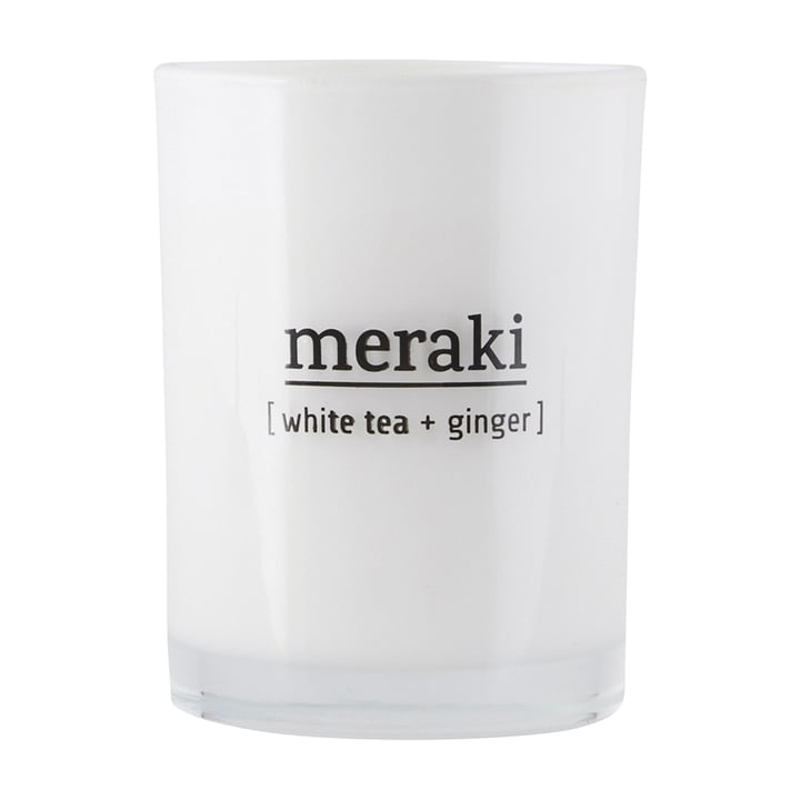 The scented candle White Tea & Ginger from Meraki , Ø 8 cm