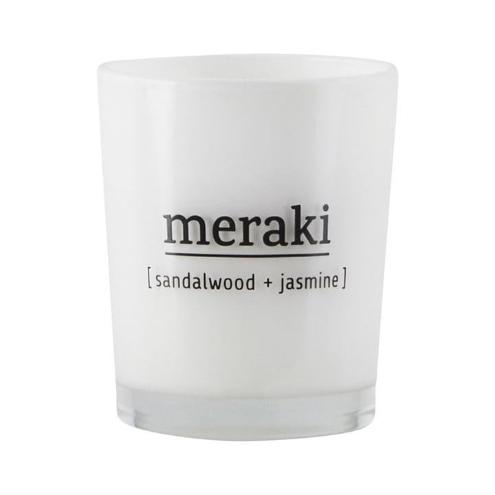 The scented candle Sandalwood & Jasmine from Meraki , Ø 5,5 cm