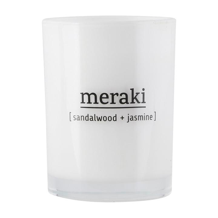 The scented candle Sandalwood & Jasmine from Meraki , Ø 8 cm