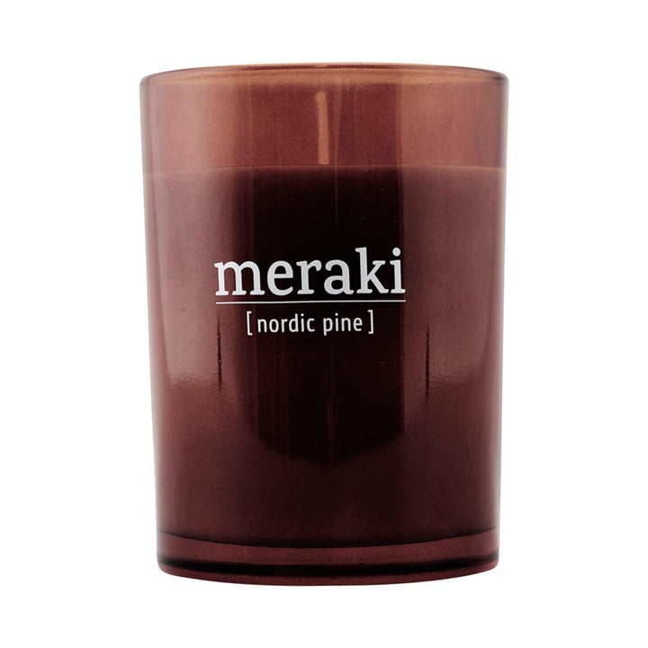 The scented candle Nordic pine from Meraki , Ø 8 cm