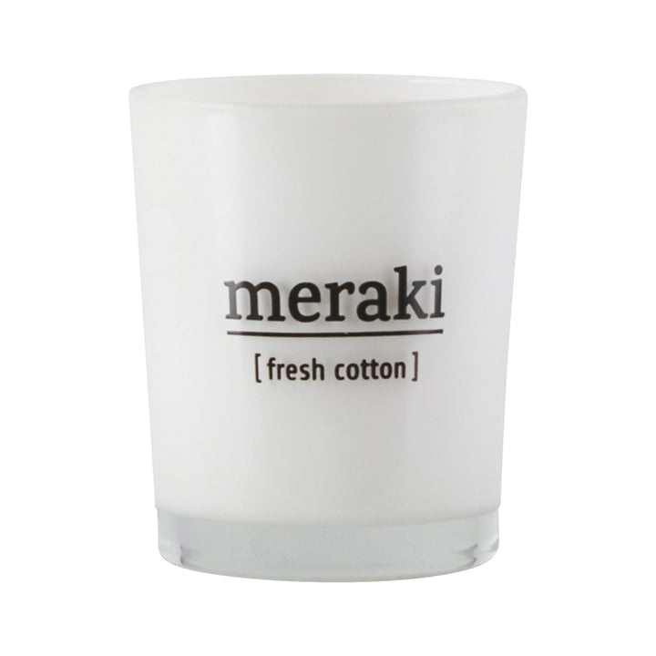 The scented candle Fresh Cotton from Meraki , Ø 5,5 cm