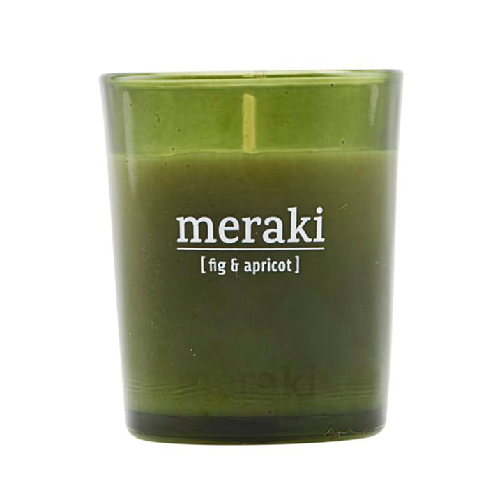 The scented candle Fig & Apricot from Meraki , Ø 5,5 cm