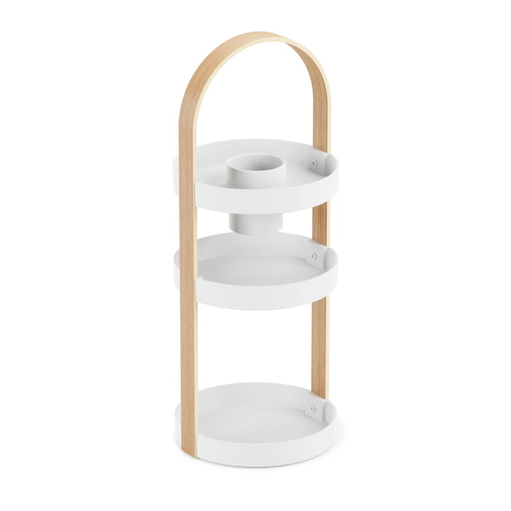 The Bellwood Organizer from Umbra in white / natural