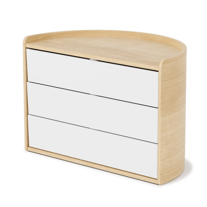 The Moona storage box from Umbra in white / natural