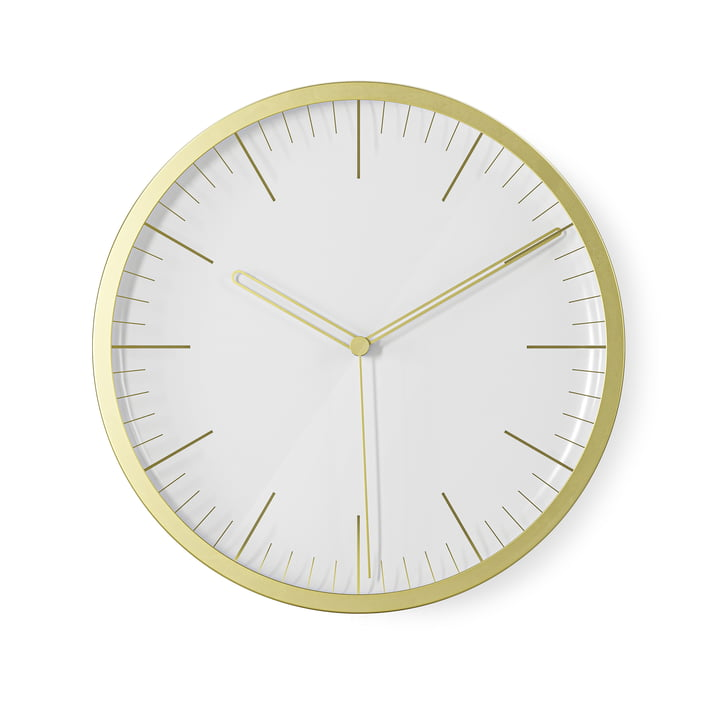 The Infinity wall clock / table clock from Umbra , Ø 21,5 cm, brass, matt