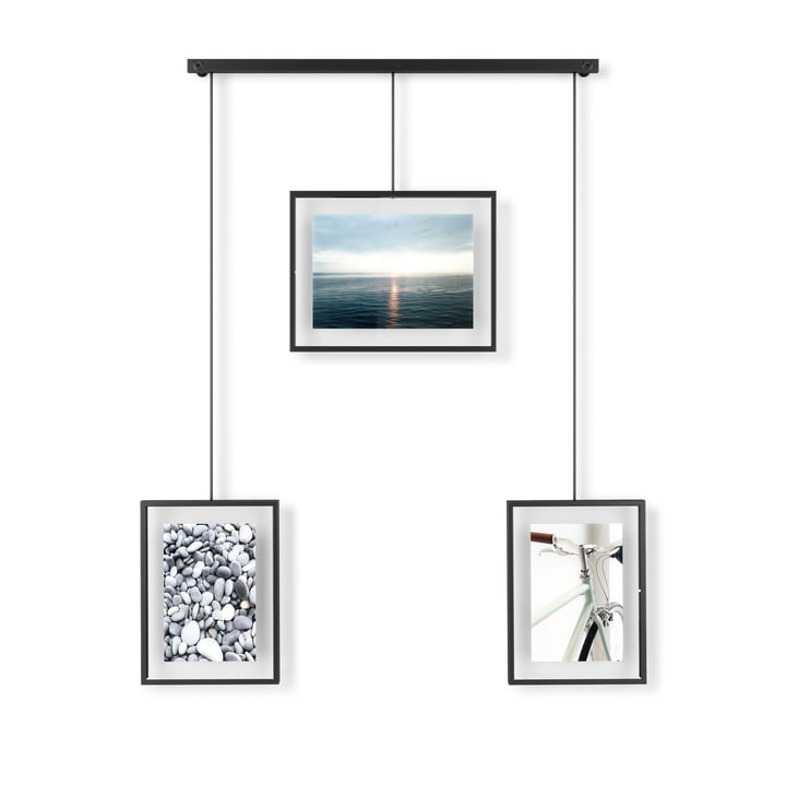 The Exhibit picture frame from Umbra in a set of 3, black
