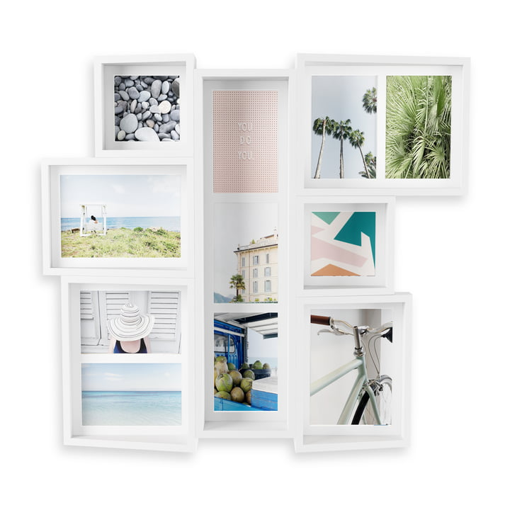 The Edge multi-image frame (wall) from Umbra in white