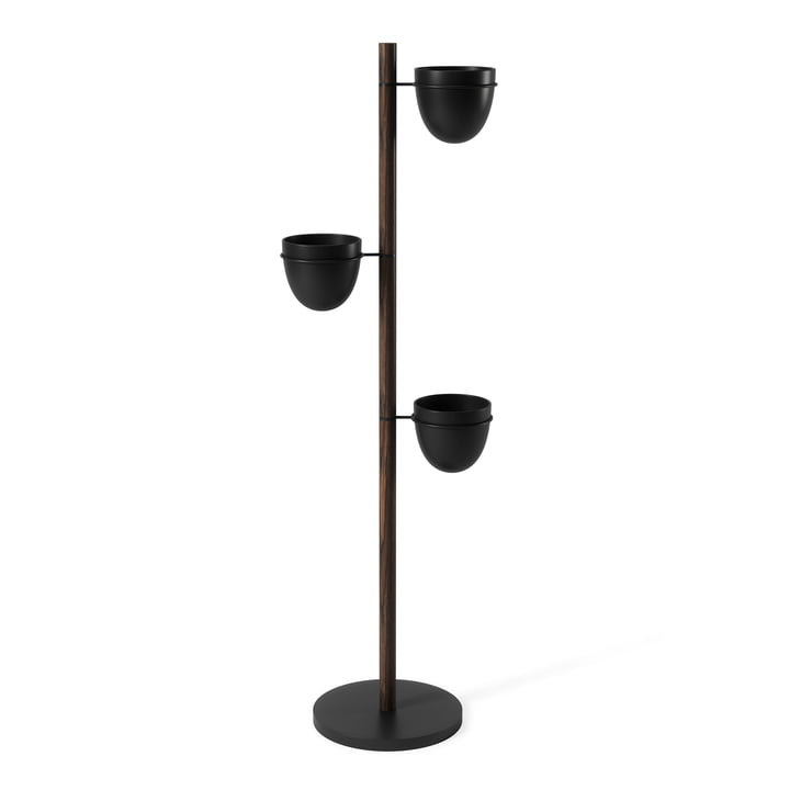 The Floristand plant holder from Umbra in black / walnut