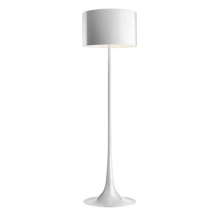 The Spun Light Floor lamp from Flos in shiny white