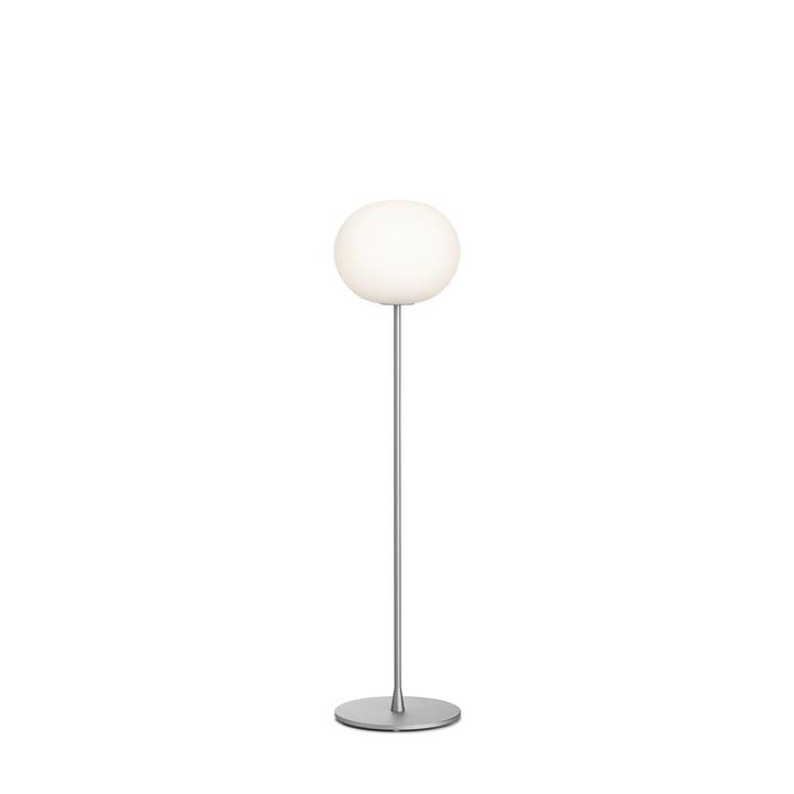 The Glo Ball F 1 floor lamp from Flos in silver matt