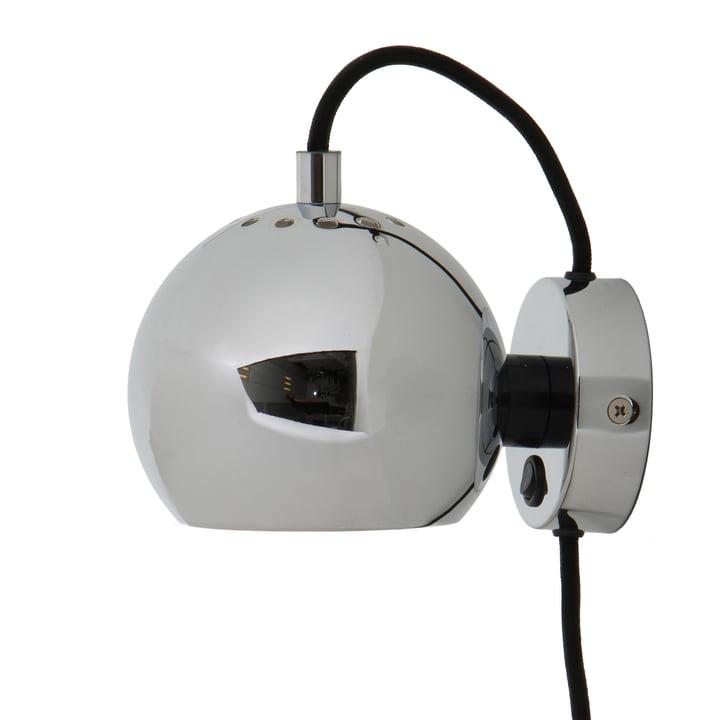 Ball wall lamp from Frandsen in chrome