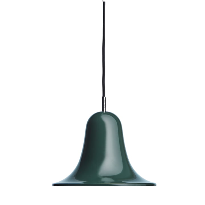 The Pantop pendant light from Verpan in dark green