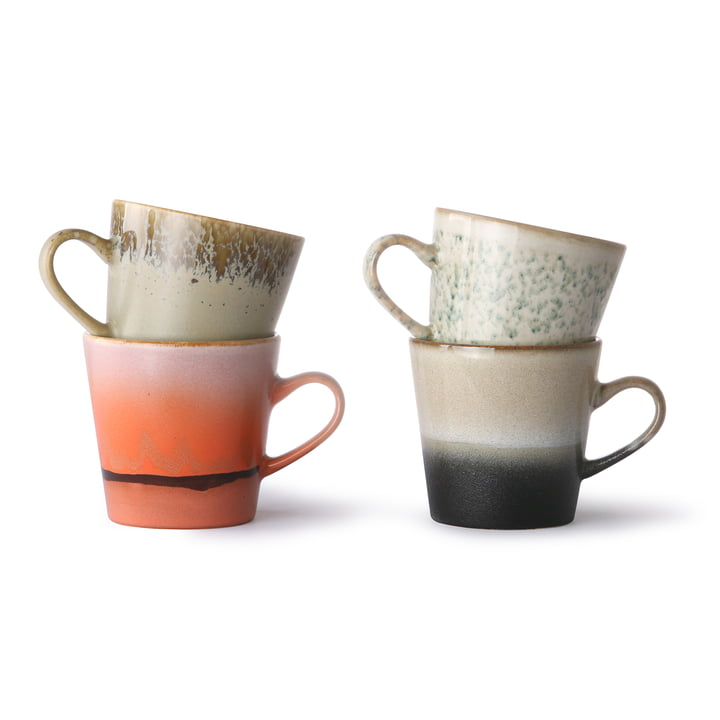 70's Americano cups set 1 (set of 4) 260 ml, multicoloured from HKliving