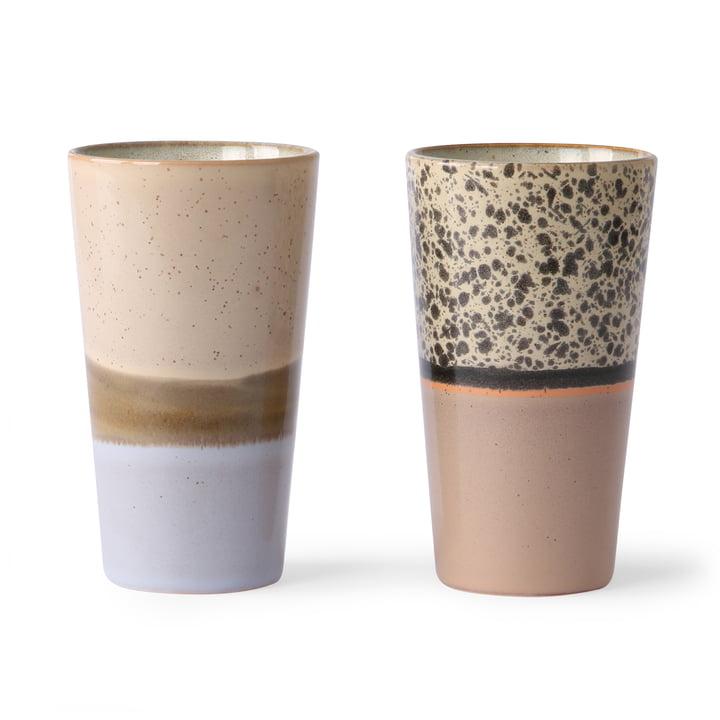 70's Latte Macchiato Mug (Set of 2) 280 ml, multicoloured from HKliving