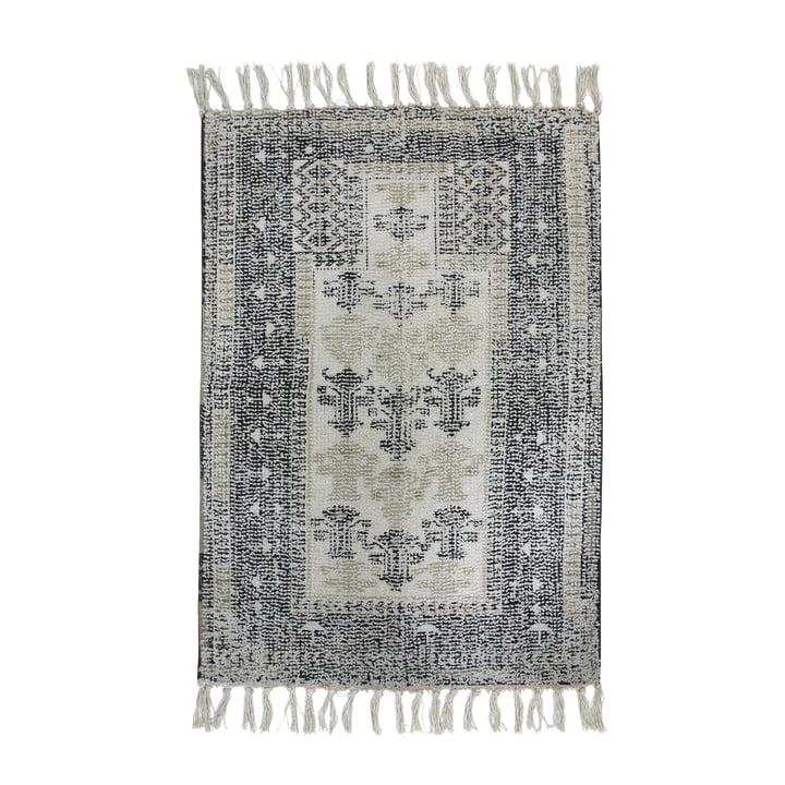 Printed bathroom carpet 60 x 90 cm, black / white from HKliving
