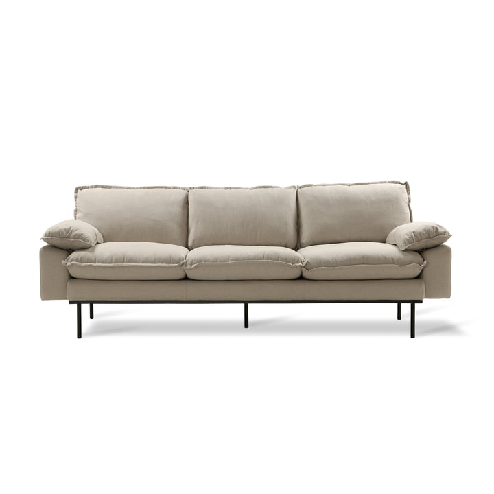 Retro Sofa, 3-seater, beige by HKliving