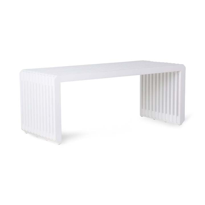 Slatted Bench, length 96 cm, white from HKliving
