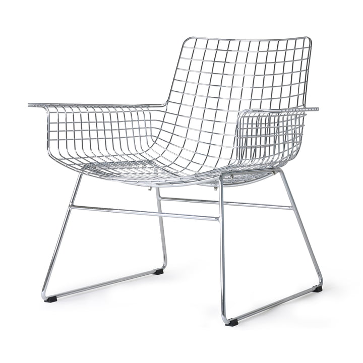 Wire Lounge Chair, chrome from HKliving