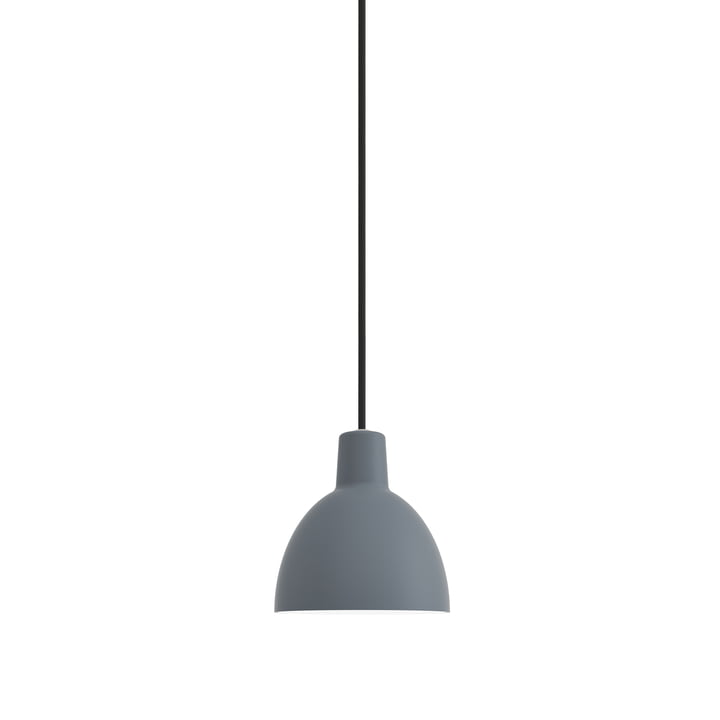 The Louis Poulsen - Toldbod 120 Pendant lamp in blue-grey (supply line black)