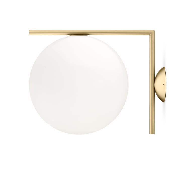 IC C / W2 BRO wall and ceiling lamp by Flos in brass
