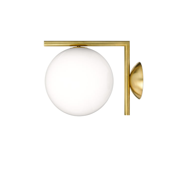 IC C / W1 BRO wall and ceiling lamp by Flos in brass